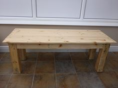 Coffee Table 100% Reclaimed Pallet Wood by GetOnYourUpCycle