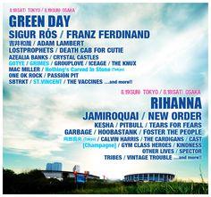 Summer Sonic Festival 2012, Japan