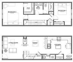 narrow 13' residential unit