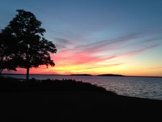 Beautiful sunset in nearby Sag Harbor, New York