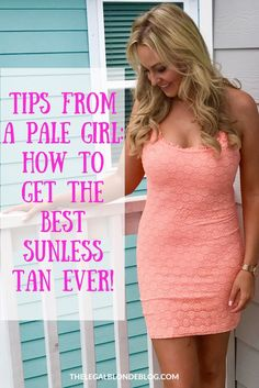 How to apply self-tanner. Advice from a pale girl!