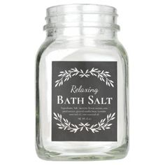Black Vintage Relaxing DIY Bath Salt Labels | Zazzle.com Diy Bath Salt Labels, Black Chalkboard, Diy Chalkboard, Bath Salts, Homemade Scrub, Relaxing Bath, Easy Peel, Jar Labels, Vintage Labels