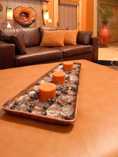 Living Room Burnt Orange Couch Design, Pictures, Remodel, Decor And Ideas    Page