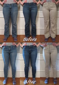 Flares to Skinnies Refashion by CarissaKnits