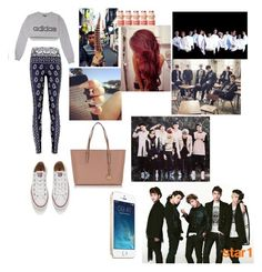 My dream outfit tonight and hanging out with exo,bts,got7, and shinee by emirahusetovic on Polyvore featuring polyvore fashion style adidas Converse Michael Kors Lauren Conrad clothing