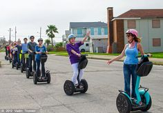An interesting and fun way to see the Island's best sites is on an afternoon Segway tour!    http://www.galveston.com/tours/