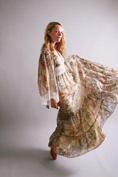 1970s maxi dress.