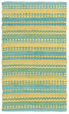 Dhurry Blue & Yellow Area Rug