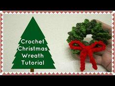 Crochet Christmas Wreath Quick - YouTube