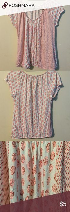 Pink and white tree and dot patterned tee Pink and white tree and dot patterned tee Old Navy Tops Tees - Short Sleeve
