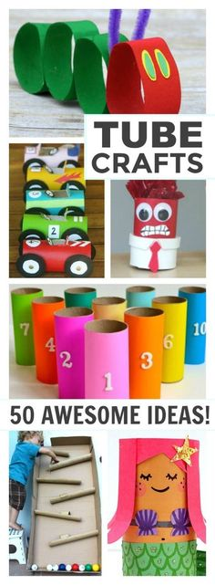 Toilet Paper Roll Crafts - Get creative! These toilet paper roll crafts are a great way to reuse these often forgotten paper products. You can use toilet paper rolls for anything! creative DIY toilet paper roll crafts are fun and easy to make. Cardboard Tube Crafts, Toilet Paper Roll Crafts, Diy Paper, Cardboard Playhouse, Resin Crafts, Tissue Paper, Jewelry Crafts, Paper Art, Crafts For Kids To Make
