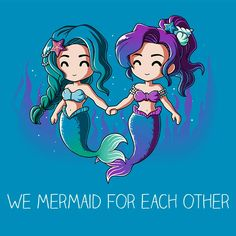 Get comfortable in hundreds of cute, funny, and nerdy t-shirts. TeeTurtle has the perfect super soft shirt to make you smile! Unicorns And Mermaids, Mermaids And Mermen, Mermaid Drawings, Mermaid Art, Anime Mermaid, Kawaii Drawings, Cute Drawings, Mermaid Quotes, Pinturas Disney