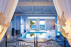 10 Amazing Hotel Rooms - Hotel Room with a beach view and pool IN the room!