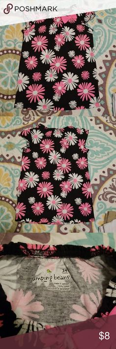 New without tags Jumping beans size 24 months top Hot pink, white and black flowered shirt sized at 24 months never worn. Hot pink bow highlights the neckline on this adorable shirt! Jumping Beans Shirts & Tops Tees - Short Sleeve