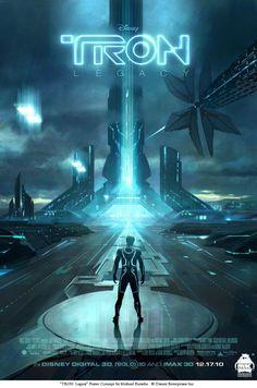 TRON: Legacy Poster Concept by michaelkutsche on DeviantArt Tron Legacy, Sci Fi Movies, Disney Movies, Good Movies, Cult Movies, Tron: O Legado, Tron Art, Science Fiction, Tron Uprising