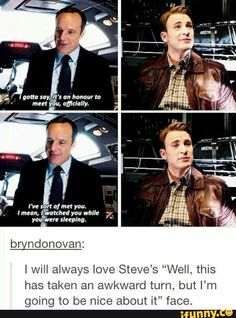 Coulson being a fanboy
