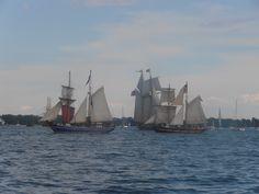 Playfair, St. Lawrence II, Pride of Baltimore II, Draken Harald Harfagre and El Galeon