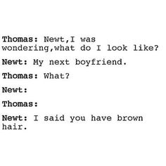 Okay I don't ship newtmas romantically but this is funny