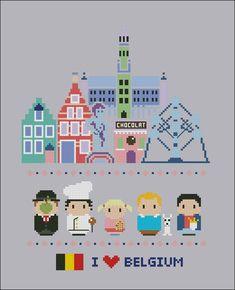 Icônes de Belgique Mini personnes dans le monde par cloudsfactory