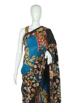 Kalamkari Saree, Indian Crafts, Elegant Saree, Outdoor Wear, Daily Wear, Sarees, Fashion Outfits, Pure Products, Silk