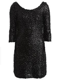 VIODINIO - SEQUINS PARTY DRESS, Black