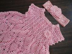 Resultado de imagem para vestido de croche para bebe com grafico