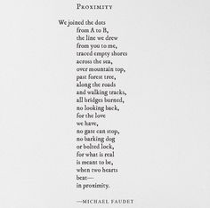 Proximity~Michael Faudet