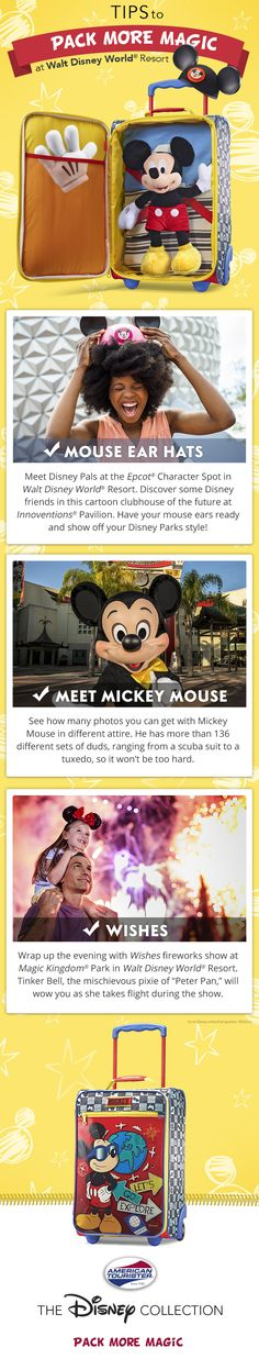 If you have a Mickey Mouse fan in the family and you're going to Walt Disney World, we have just the thing for you. Check out our Mickey Mouse kids' luggage and see how you can have a blast on your Walt Disney World vacation.