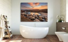 Large Coastal Tide Pool Photography Order as Unframed Print