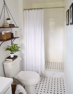 Black and White Bathroom with Wood Accent - DIY Modern Farmhouse Decor Delightfu. Black and White Bathroom with Wood Accent - DIY Modern Farmhouse Decor Delightfully Chic Signature Collection - swing shelf Small Apartment Bathroom, Modern Small Bathrooms, Cozy Bathroom, Bathroom Decor Apartment, Small Bathroom Decor, Modern Bathroom, Bathroom Decor Apartment Small, Bathroom Design, Bathroom Decor