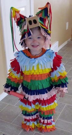 Piñata | 17 Mind-Blowingly Cute And Simple Halloween Costumes For Kids Maybe a rainbow tutu or piñata skirt substituting for normal pants