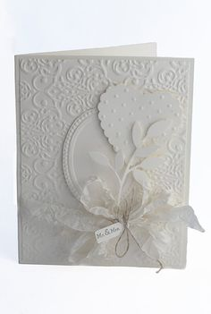 Wedding card, shabby chic, handmade, blank inside on Etsy, $4.95