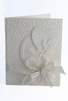 Wedding card, shabby chic, handmade, blank inside on Etsy, $4.95