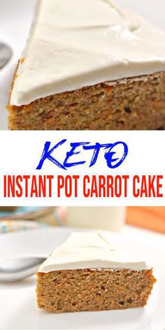 Keto Carrot Cake Instant Pot! Easy low carb keto instant pot Carrot Cake recipe. BEST Carrot Cake keto instant pot. Few simple keto friendly ingredients to make gluten free, sugar free instant pot Carrot Cake. Moist Carrot Cake Keto! Simple & quick keto dessert, keto snacks recipes. Yummy instant pot Carrot Cake for ketogenic diet. #keto #lowcarb Carrot Cake - skip fat bombs for  cake. Try low carb instant pot Carrot #Cake for Halloween, Thanksgiving or Christmas -click for this keto food…