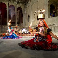 Traditional Rajasthani Dance And Puppet Show At Bagore Ki Haveli Udaipur India