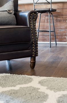 Beautiful Vintage Tobacco Oak Flooring - a gorgeous laminate flooring from Pergo that we've installed in our whole downstairs. Comfy Living Room Furniture, Velvet Dining Chairs, Vintage Dining Chairs, Best Chairs Glider, Oak Floors, Comfy Chairs, Contemporary Dining Chairs, Cool Chairs, Dining Chairs Diy
