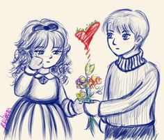 Draco and Hermione: Young Love by ThreeAM.deviantart.com on @DeviantArt
