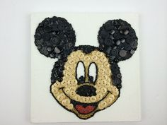 Mickey Mouse Button Art created with Button Jar and Craftng with Buttons by helen