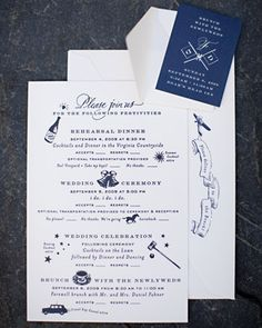 Outdoor wedding invite wording for guests attire country weddings weekend events the other side of the rsvp card lists the weekends different events with clever clip art and wording to let guests know about transportation stopboris