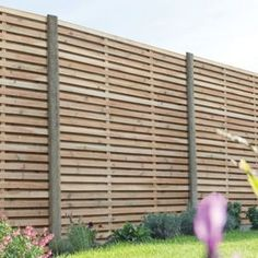This Double Slatted Panel from Forest is a solid yet stylish panel with a up to date look. It will give a modern feel to boundary fencing and will revamp any garden. The panel features slats mounted alternately on the front and back of the panel. Slatted Fence Panels, Wooden Fence Panels, Wooden Slats, Fence Panels Uk, Fence Design, Patio Design, Garden Design, Terrace Design, House Design