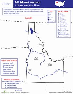 California geography geography worksheets and social studies idaho geography altavistaventures Gallery