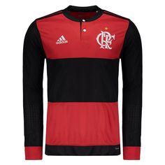 Camisa Adidas Flamengo I 2017 Manga Longa Somente na FutFanatics você  compra agora Camisa Adidas Flamengo ec1cbad7c3d