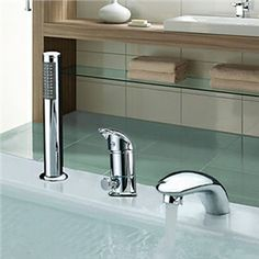 Widespread Two Handles Contemporary Chrome Finish Waterfall With Handshower Tub Faucet - See more at: http://www.homelava.com/en-widespread-two-handles-contemporary-chrome-finish-waterfall-with-handshower-tub-faucet-nbsp-p19371.htm#sthash.wMI2W4fv.dpuf