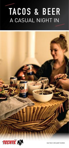A Casual Winter's Night in with Tecate Light Simple Beer Recipe, Mexican Beer, Taco Recipe, Beer Recipes, Winter Night, Tuesday, Tacos, Weather, Friends