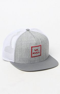 A PacSun.com Online Exclusive! RVCA creates a classic men's trucker hat found at PacSun. The VA All The Way Trucker III Hat for men has a RVCA logo sewn on the stiffened front.   RVCA logo on front Raised embroidery Stiffened front Solid mesh back Solid adjustable snapback with logo loop Flat bill One size fits most Spot clean 40% nylon, 32% polyester, 28% cotton Imported