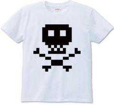 Pixel Skull Tee #tshirt