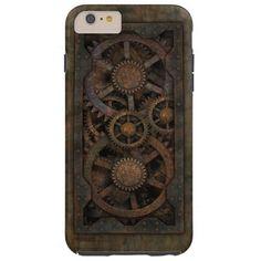 Grungy Industrial Steampunk Machine Tough iPhone 6 Plus Case