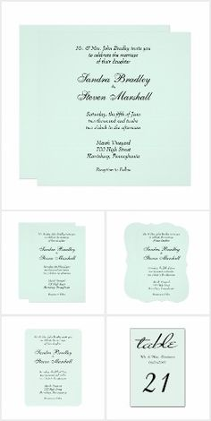 Mint Wedding Invitation Suite 60% off with code AFTERXMASFUN