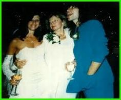 Dorothea Hurley and Jon Bon Jovi on their wedding day 1989 with Jon's mom - Google Search