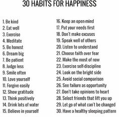 Notice that every one of these has to do with your own inner state. Nothing outside of you will make you content.